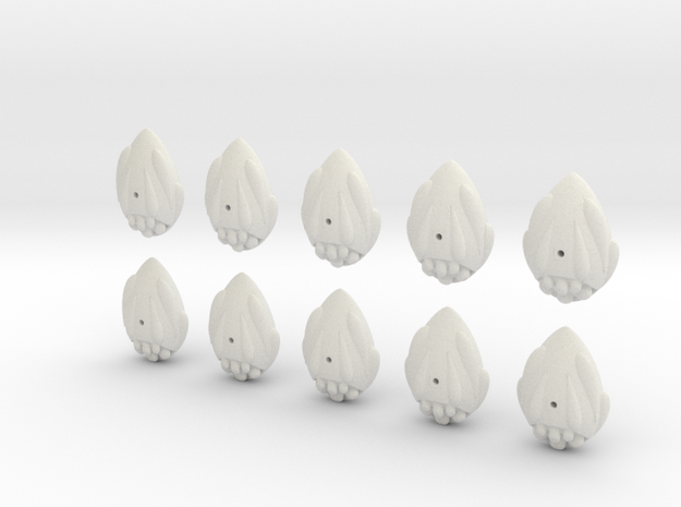 easter egg fleet set in White Natural Versatile Plastic