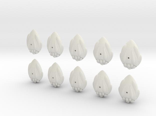 easter egg fleet set in White Natural Versatile Plastic