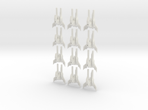 Tripple stinger fleet set in White Natural Versatile Plastic