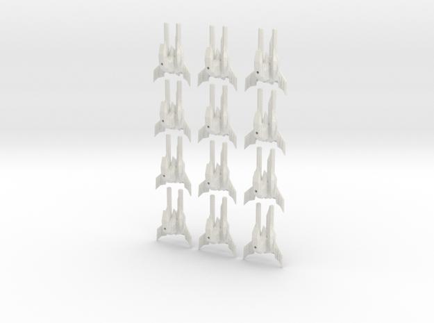 Tripple stinger fleet set in White Natural Versatile Plastic