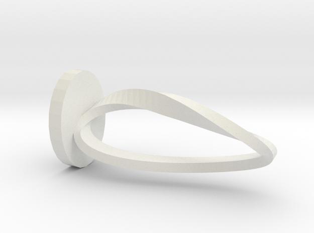 Smaller Moebius in White Natural Versatile Plastic