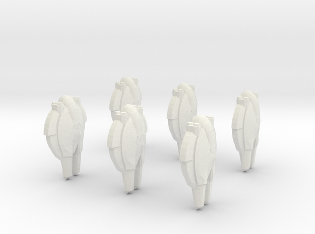 Pact Swarmer Fighters 6-pack in White Natural Versatile Plastic