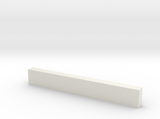 "8'6"" Wooden Crossbeam in White Strong & Flexible"
