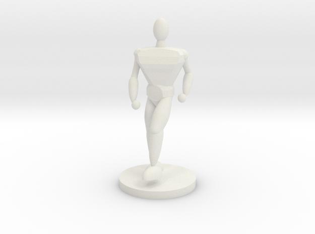 25mm man in White Natural Versatile Plastic