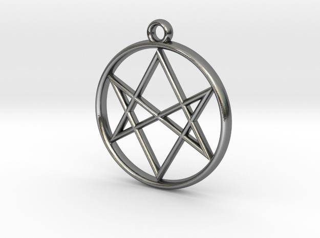 Unicursal Hexagram Pendant 3d printed
