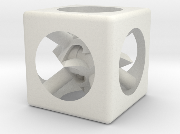 Point Reader D6 in White Natural Versatile Plastic