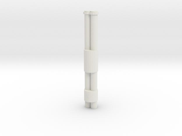 Jackhammer Rocket Barrels in White Natural Versatile Plastic