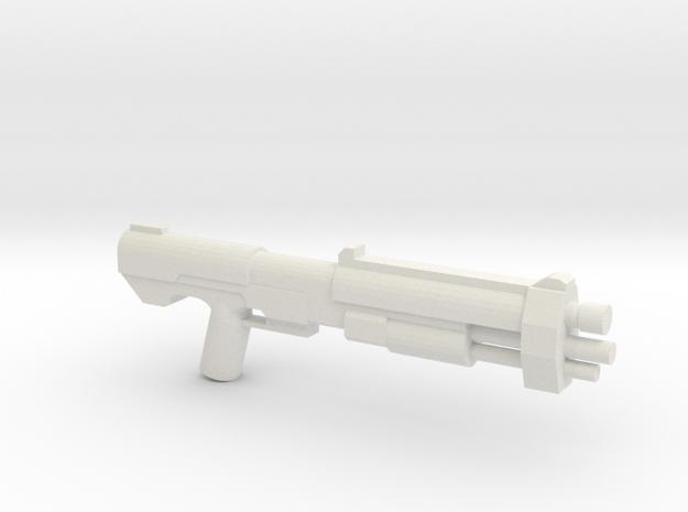 M46 Assault Shotgun Proto in White Natural Versatile Plastic