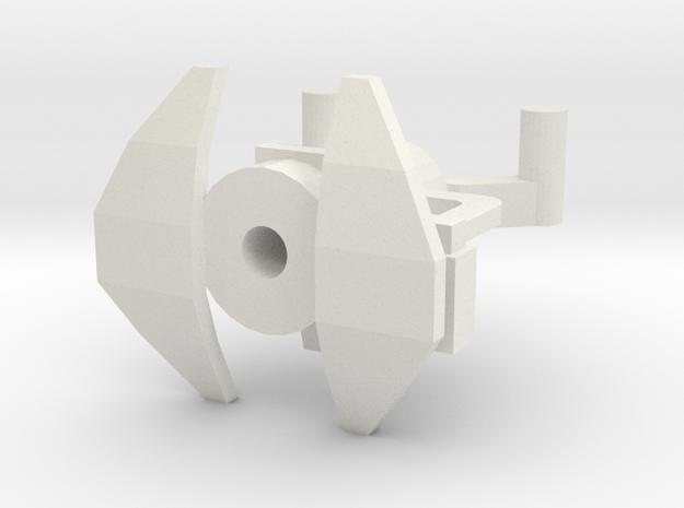 HMG Body w Clip in White Natural Versatile Plastic