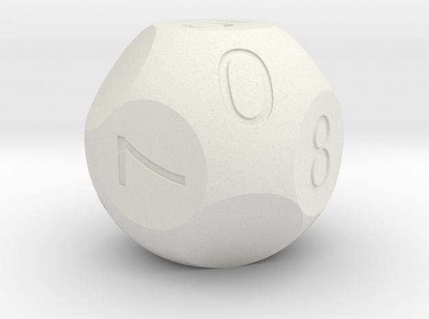 D10 3-fold Sphere Dice 3d printed