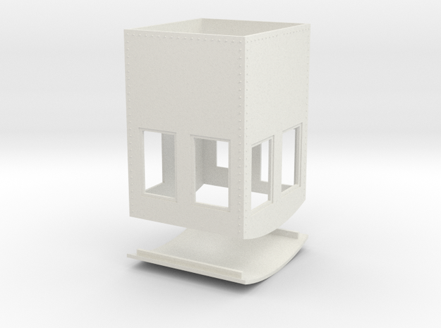 On30 Small steel cab 1 in White Natural Versatile Plastic
