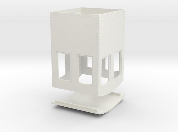 On30 Small steel cab 2 in White Natural Versatile Plastic