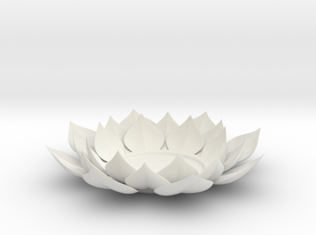Lotus Flower Tea Light Holder in Transparent Acrylic