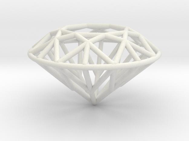 Diamond small in White Natural Versatile Plastic