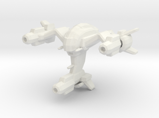 Wraith space fighter in White Natural Versatile Plastic