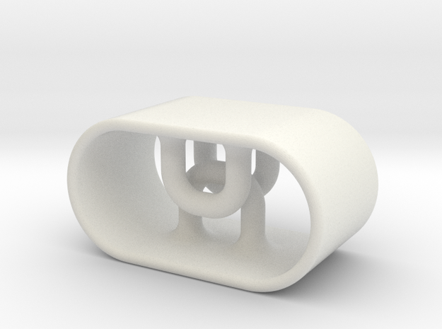 String Toggle Grip in White Natural Versatile Plastic