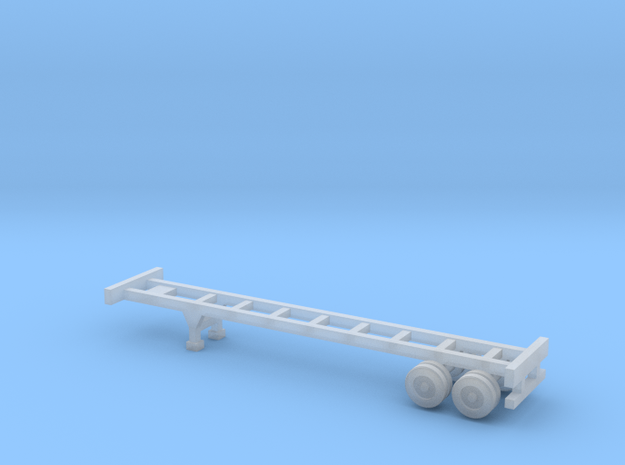 40 foot Container Chassis - Z scale in Smooth Fine Detail Plastic