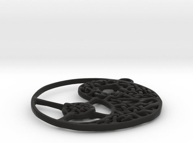 Yin Yang Necklace 3d printed