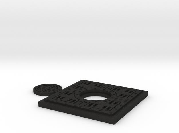 Floor Tile Manhole w/Cover 3d printed