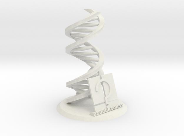 Accurate DNA Model: Biocurious Edition in White Natural Versatile Plastic