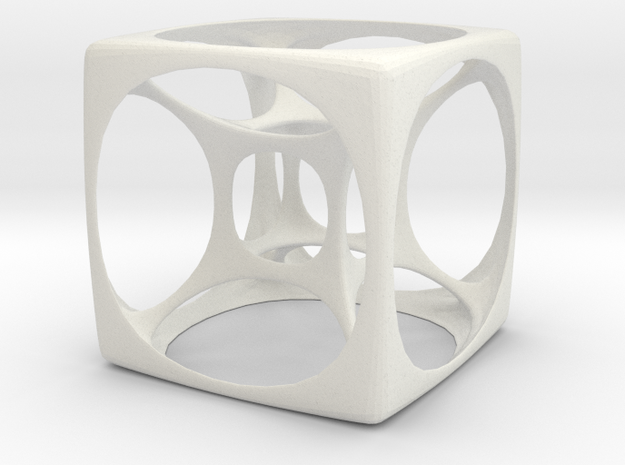 Hyper Cube 3 in White Natural Versatile Plastic