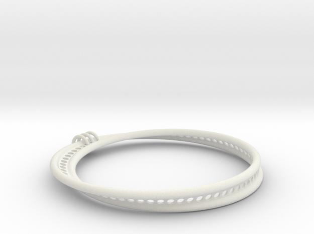Möbius Snake Bracelet (Large) in White Strong & Flexible