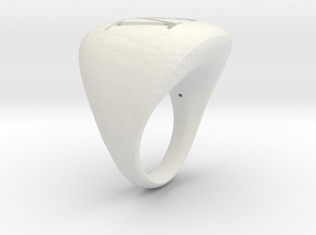 M_initialRingSize9 in White Natural Versatile Plastic