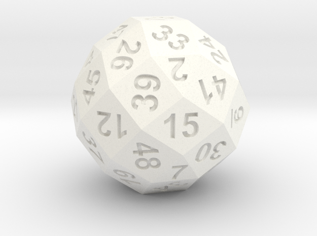 50-side dice (solid core)