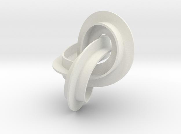 mobius strip medium in White Natural Versatile Plastic