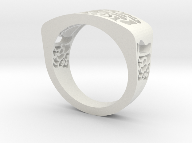 warpy ring in White Natural Versatile Plastic