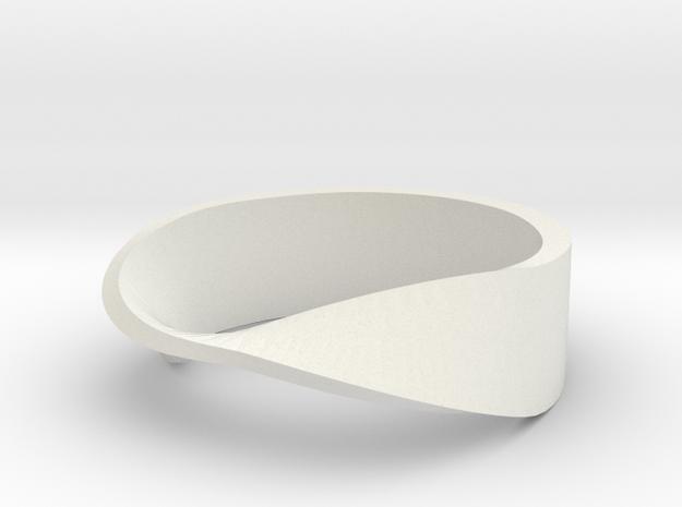 mobius ring in White Natural Versatile Plastic