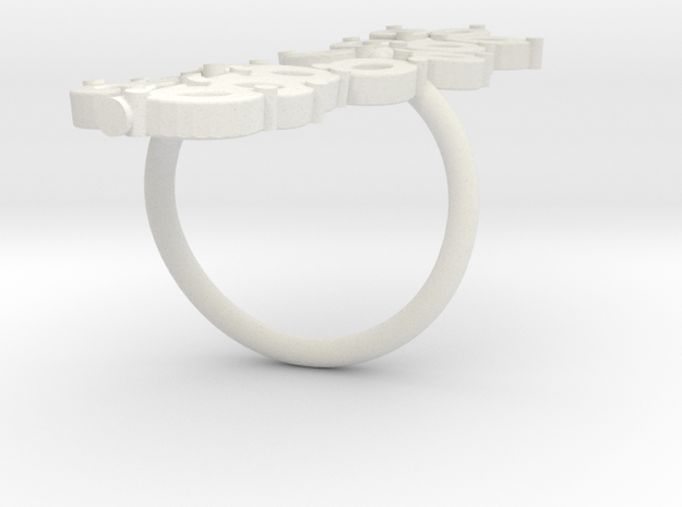 Olive Branch Ring 3d printed