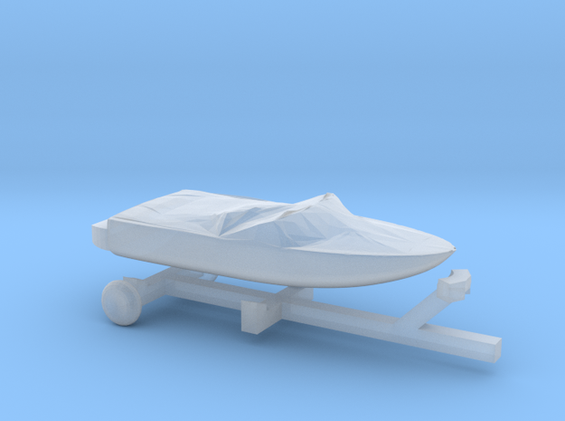 Covered Pleasure Boat - Z scale in Smooth Fine Detail Plastic