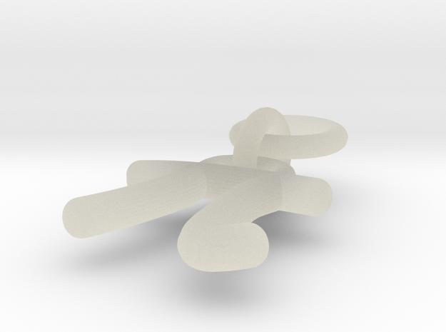 Phi-Symbol Earring 3d printed