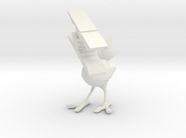 Clothespin Bird in White Strong & Flexible