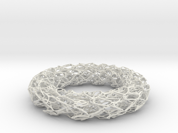 Scribbled Bracelet in White Strong & Flexible