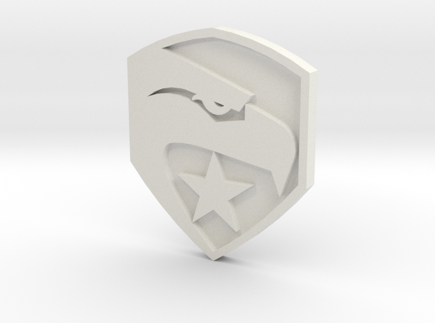 GI Joe logo button 3d printed