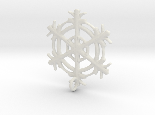 Snowflake Earring in White Natural Versatile Plastic