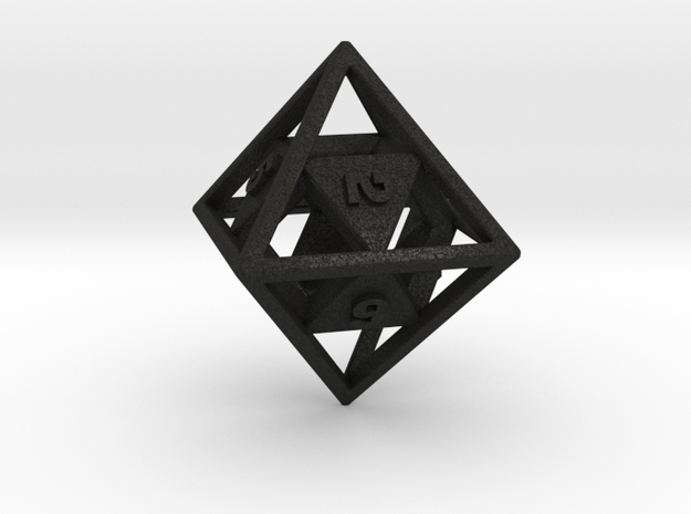 """Open"" d8 - Eight-sided die 3d printed"