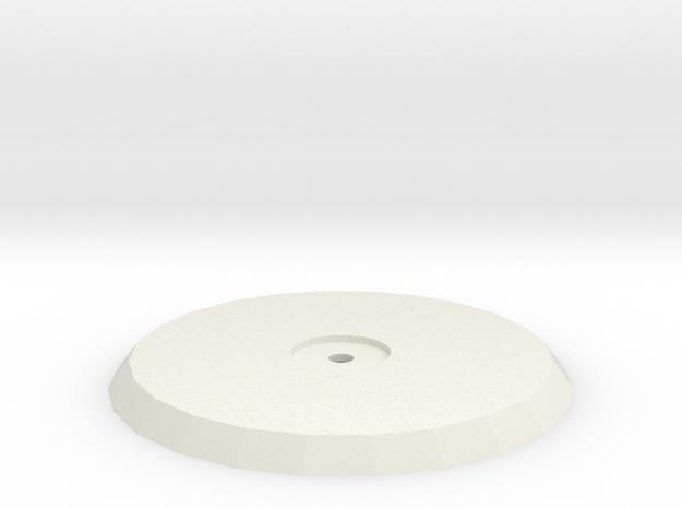 60mm Flying Base in White Natural Versatile Plastic