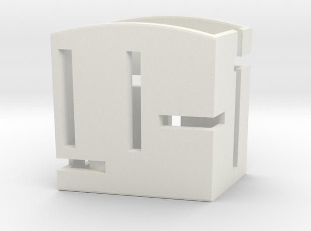 Card Holder Sharp Sides in White Natural Versatile Plastic