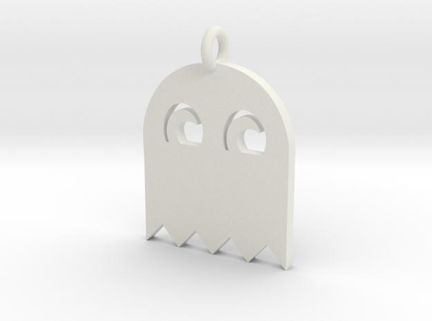 PacMan Ghost Pendant 3d printed render