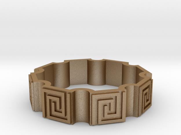 Squiral Motif Bracelet 3d printed