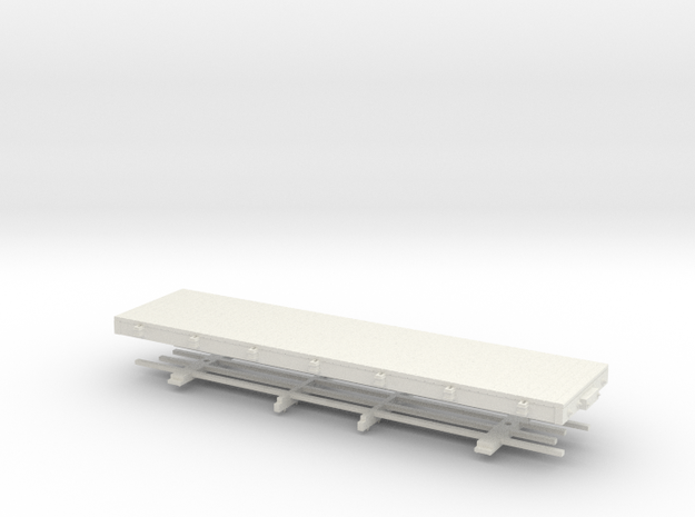 Hon30 28ft flatcas (without stakes) in White Natural Versatile Plastic