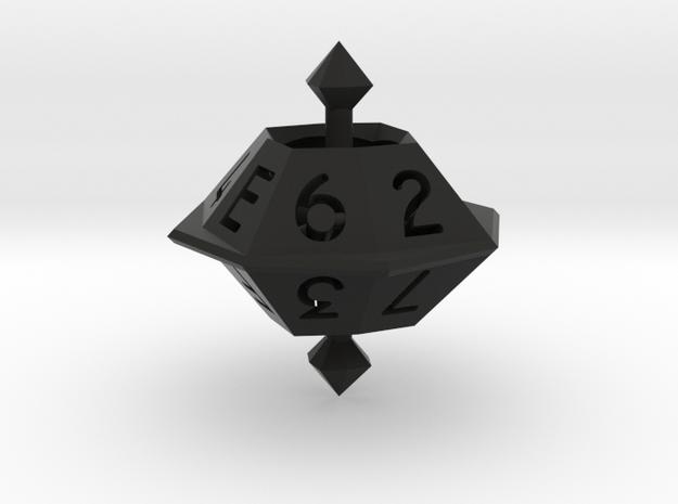Hexadecimal die 3d printed