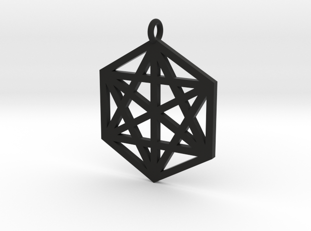Hexagram 40mm 2mm square 3d printed