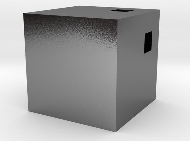 Kube Pendant SILVER 3d printed
