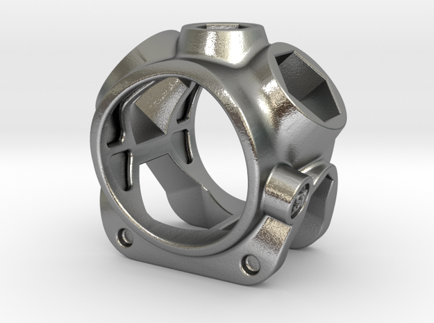 1086 ToolRing - size 7 (17,35 mm) in Raw Silver