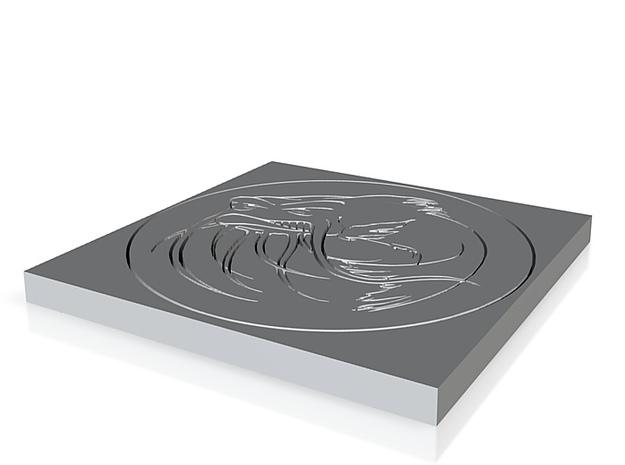 Inverted Catfish with Circle No Base 3d printed