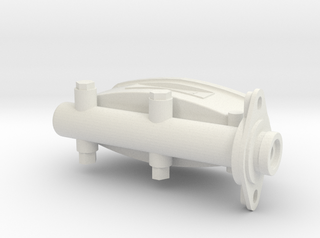 1/8 scale brakecylinder in White Natural Versatile Plastic
